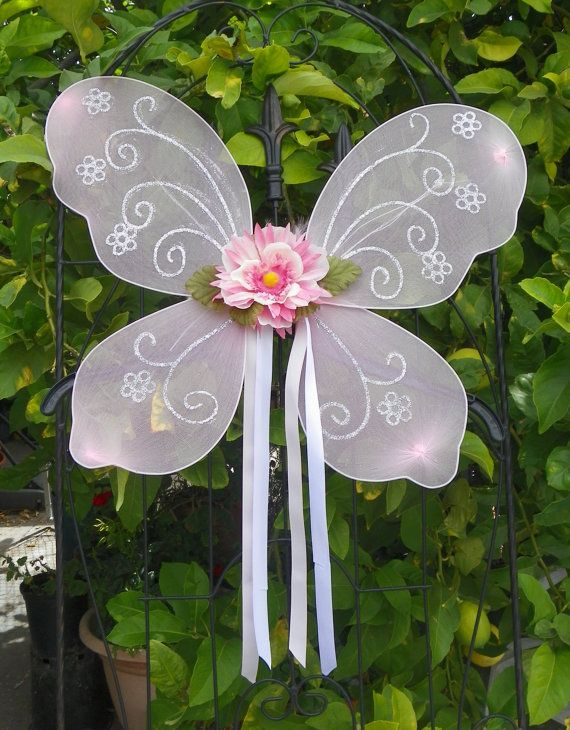 Fairy Wings Butterfly Pink for Little Girls with Any Tutu or for a Dress Up Party Custom Made