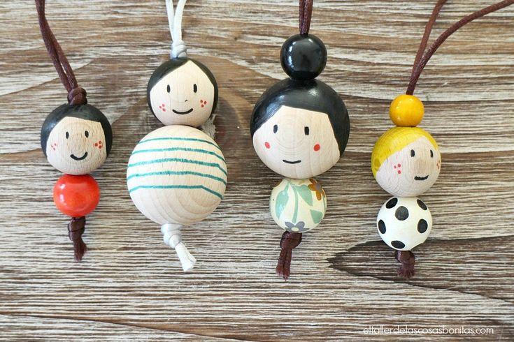 Cómo hacer figuras de madera pintadas a mano | el taller de las cosas bonitas