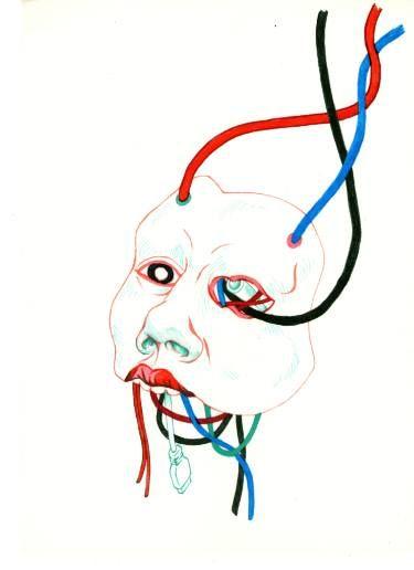 """Saatchi Art Artist TRIANTAFYLIA VASSOU; Drawing, """"Cables"""" #art"""