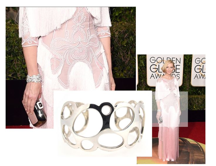 Golden Globes 2016. Cate Blanchett scored mixed reviews in her Givenchy frock. We were inspired by it's shape and form though and picked our Honeycomb cuff as a match.