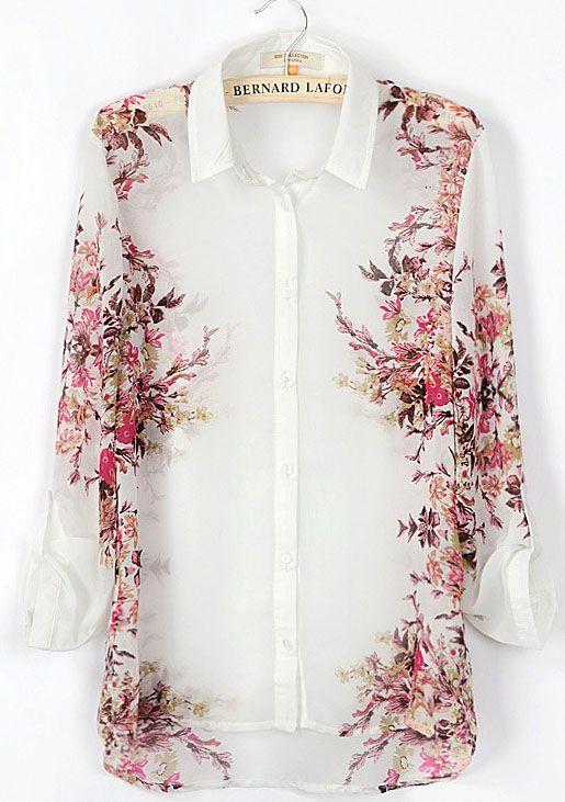 Blusa estampada flores-Blanco EUR17.70
