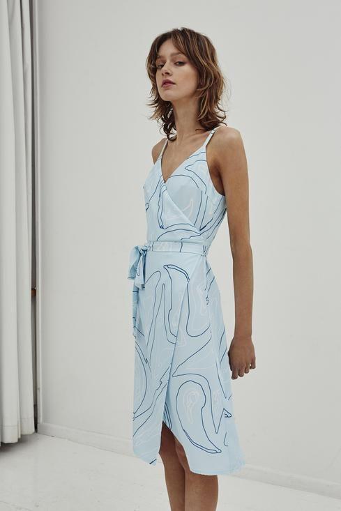 Jillian Boustred / Artist Wrap Dress - Akagu