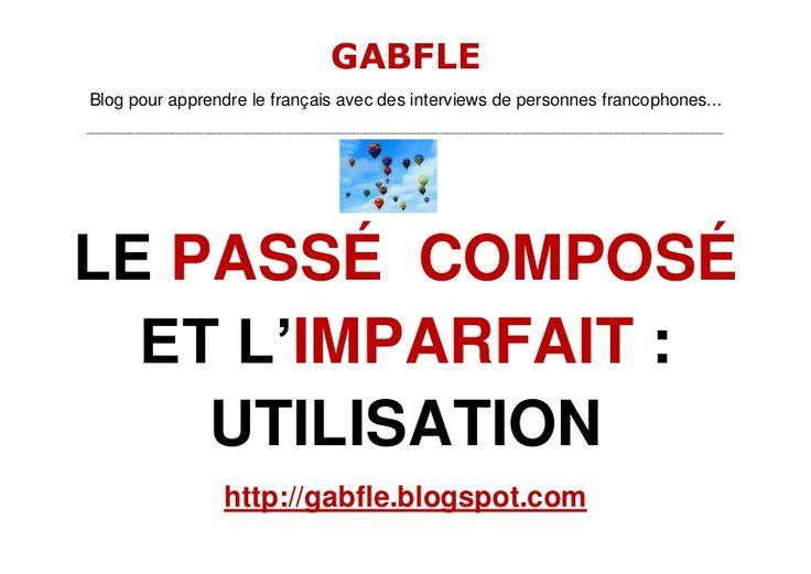 Slideshare —Gabfle - Passé composé et imparfait