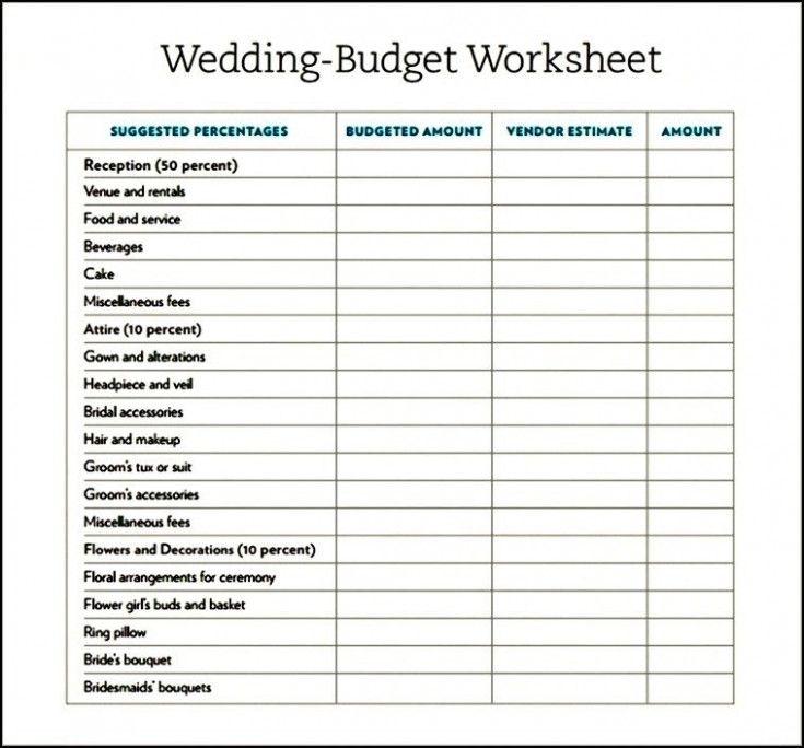 Free Printable Wedding Budget Planner Worksheet Wedding Budget Planner Free Wedding Planner Free Wedding Printables