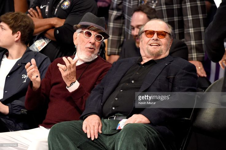News Photo : Lou Adler and Jack Nicholson attend the 67th NBA...