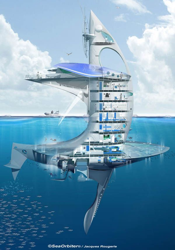 Colossal SeaOrbiter Research Ocean Skyscraper To Begin Construction In 2012 [Video] #architectureColossal Rollercoaster, Submarines, Architects, Seaorbit, The Ocean, Boats, Architecture, Design, The Sea