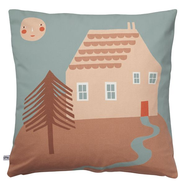 New House on a Hill cotton cushion by Donna Wilson! http://www.donnawilson.com/440-house-on-a-hill-cushion.html