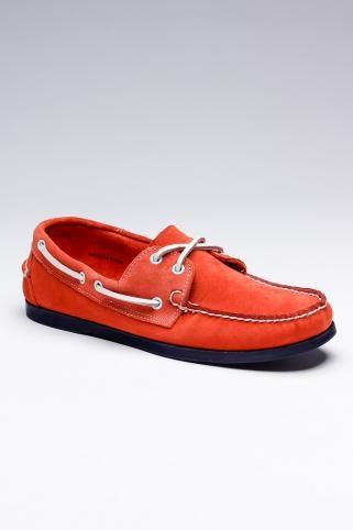 Orange Blue Boat Shoe, Fall Color, Vintage Cleveland Cavs