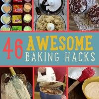Baking is science.  True. Our sister site Homemade Recipes wants to help us all out with these 46 professional baking hacks to make your life so much easier. It's all about following exact measurements to achieve desired consistency; understanding why you should follow baking times to ensure texture; knowing how to mix