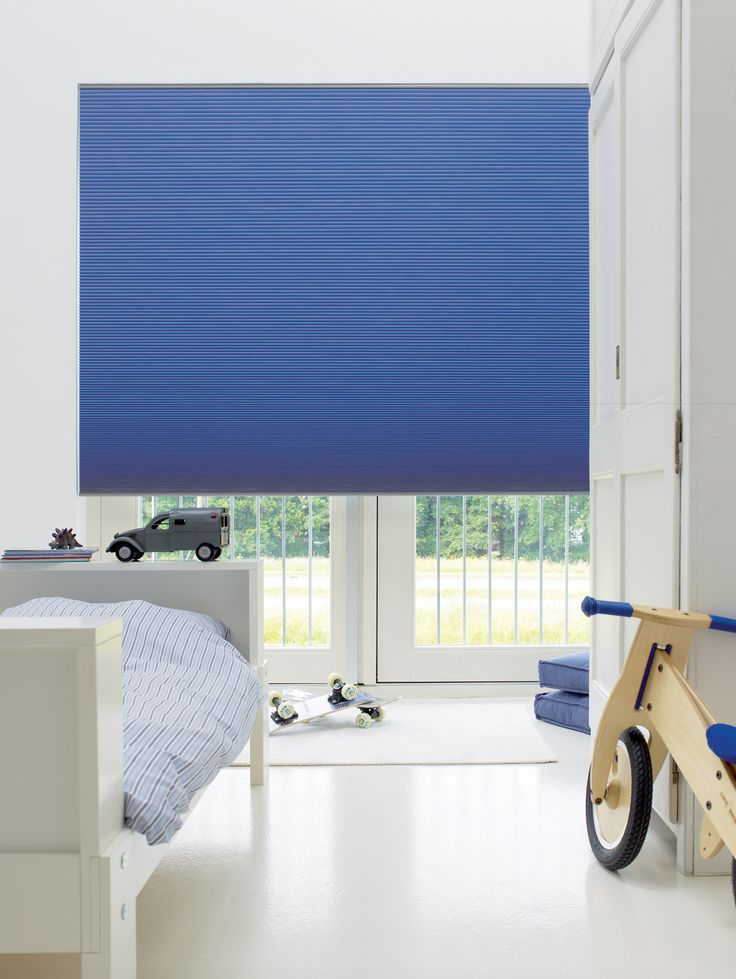 Blackout blinds for kids' bedrooms. Duette energy saving blinds.