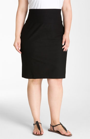Eileen Fisher Knit Pencil Skirt (Plus) | Nordstrom