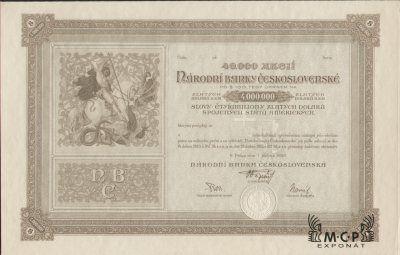 Muzeum cennych papiru A0927 NÁRODNÍ BANKA ČESKOSLOVENSKÁ 1926