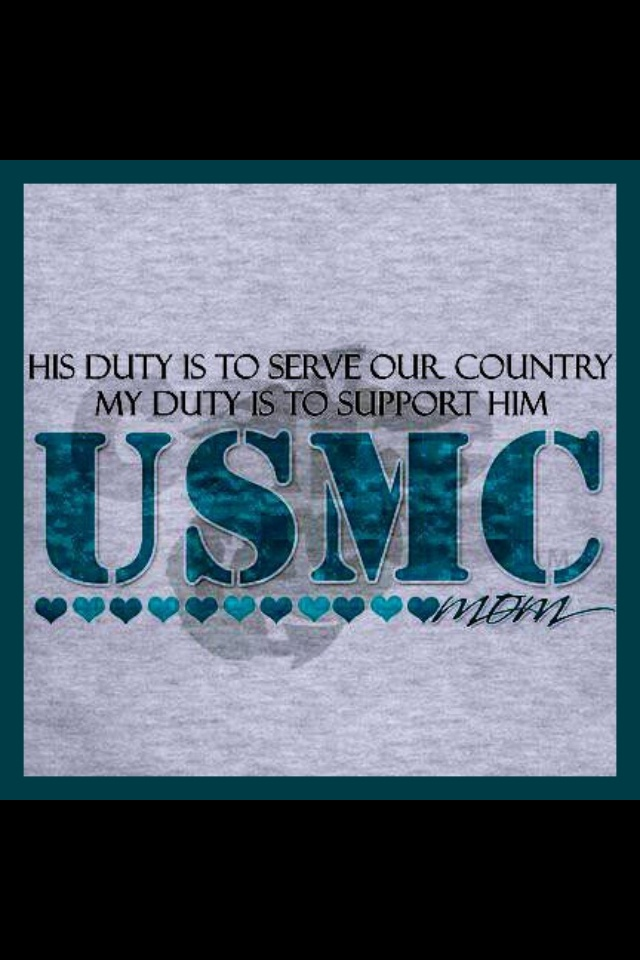His duty is to serve our country. My duty is to support him.