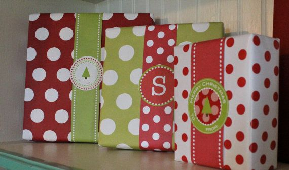 Variety Pack of Christmas Labels by Paperjacks on Etsy