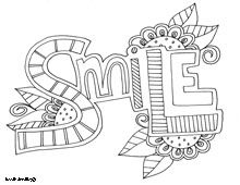 inspiration word coloring pagessmile - Inspirational Word Coloring Pages