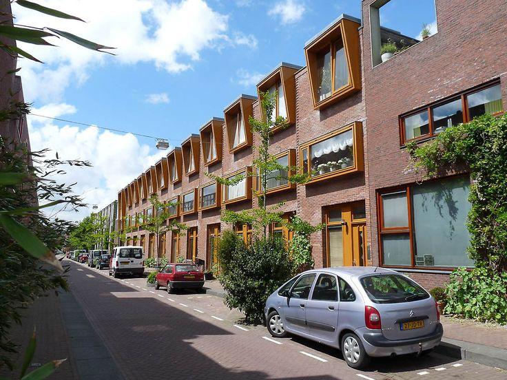Социальное жилье в районе Борнео- Споренбург( Амстердам, Нидерланды) \\Social housing in the area Borneo- Sporenburg (Amsterdam, Netherlands)