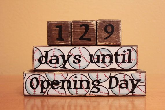 Baseball Gift- Baseball Countdown Blocks- Personalized Baseball- Father's Day- Personalized Dad- Baseball Fan Gift- Opening Day Baseball