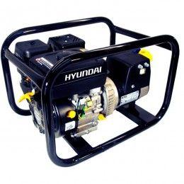 Open frame Hyundai petrol generator.