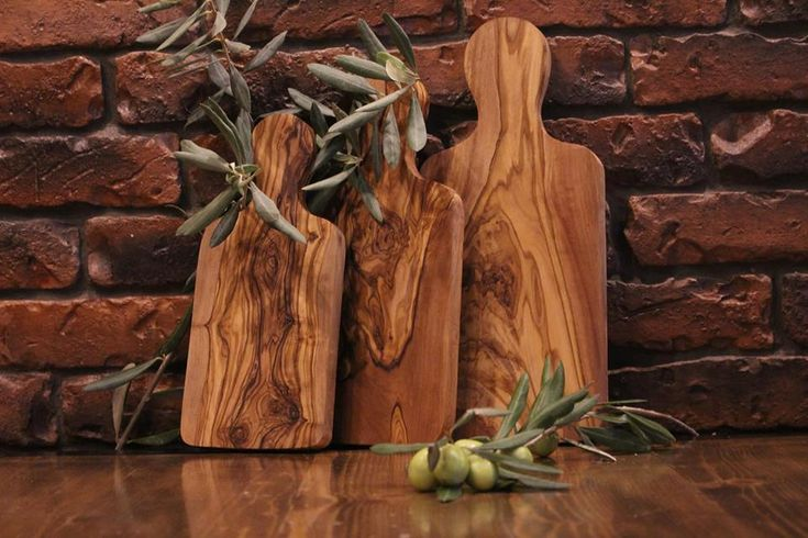 Cutting board /Olive wood cheese chopping board/Set of 3 wooden breakfast board #Handmade