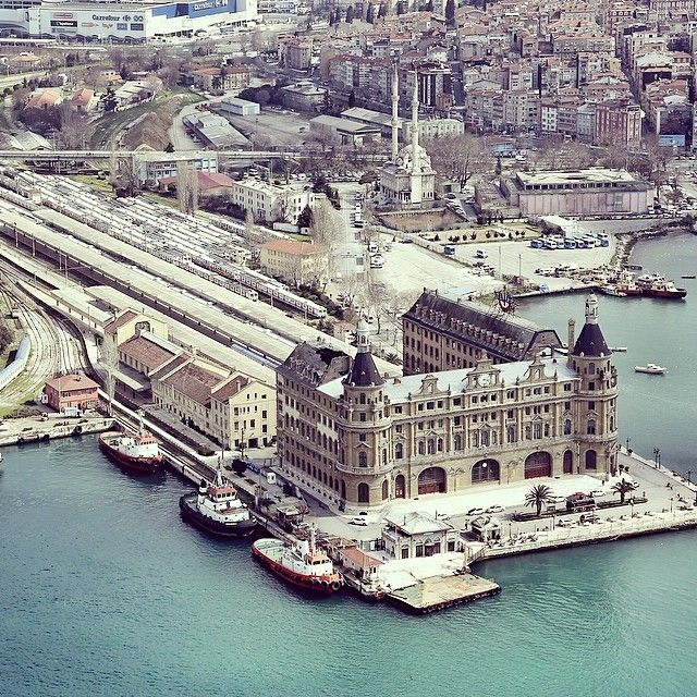 HAYDARPASA TRAIN STATION. Istanbul, Turkey. emrkrm @emrkrm Instagram photos.Thank you to Ugur Soyata for sharing this wonderful photo. www.armadaistanbul.com www.armadaistanbulculture.com