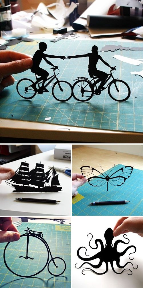 paper cut-out silhouettes
