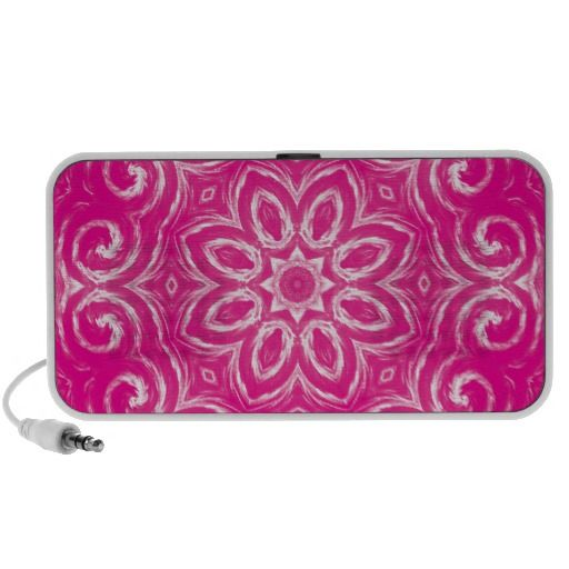 Energy Mandala - Pink Portable Speaker
