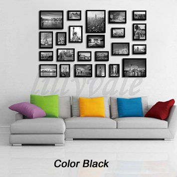 From 23.99 Large Multi Picture Photo Frames Wall Set 23 Pieces Set (black)