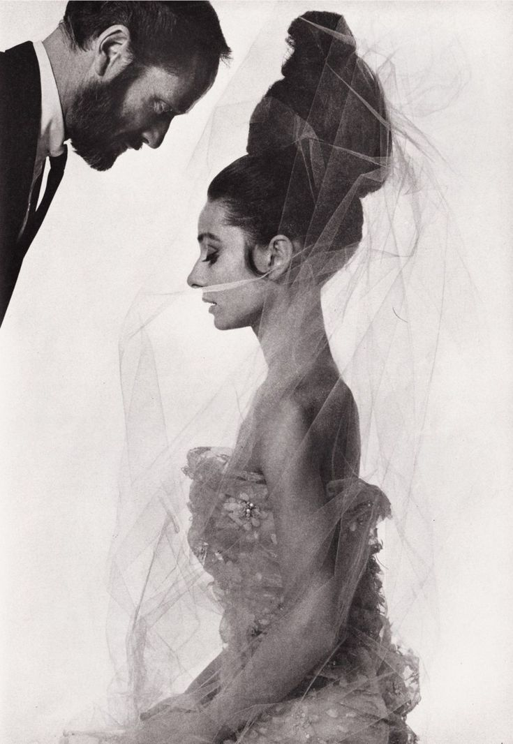 Audrey Hepburn and Mel Ferrer photographed by Bert Stern for Vogue Paris, May 1963