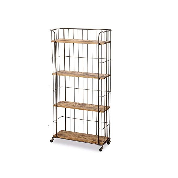 Whole House Worlds The Urban Chic Rolling Rack With 4 Shelves