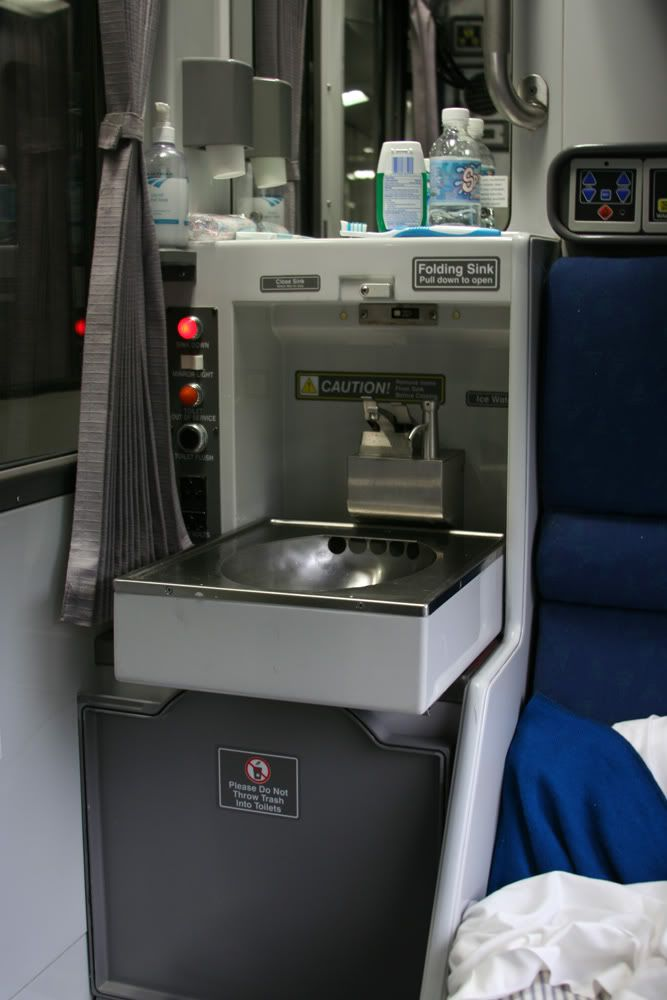 Folding Sink And Toilet In Train Never Been Overnight On A