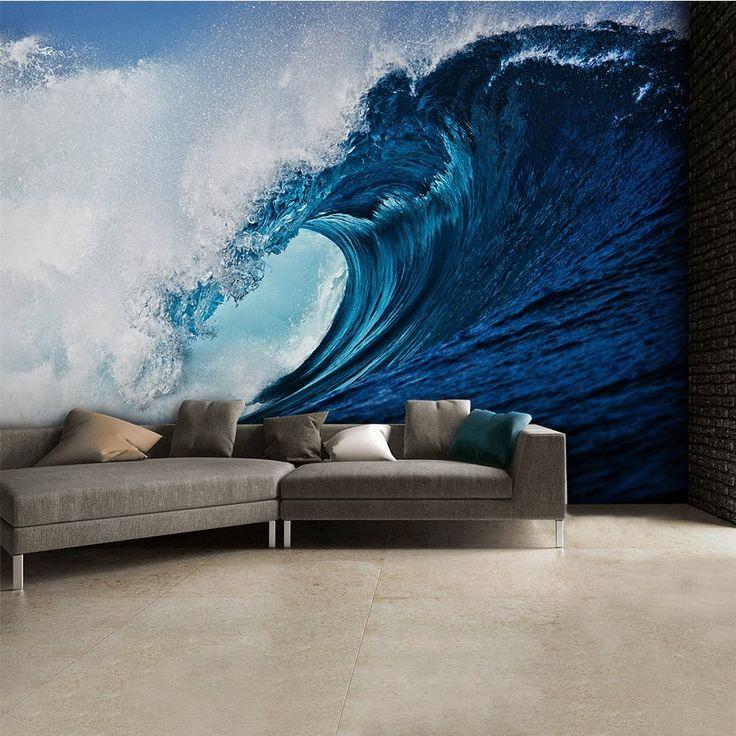 Wave wallpaper for bedroom