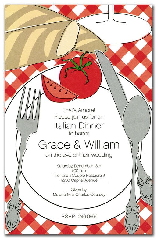 Best 25 dinner party invitations ideas on pinterest dinner italian placesetting party invitations by invitation consultants item in 1 stopboris Image collections