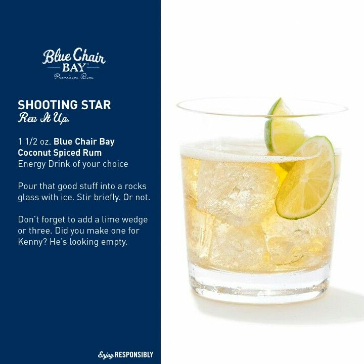 Kenny 39 s new rum blue chair bay shooting star recipe for Mix drinks with wine