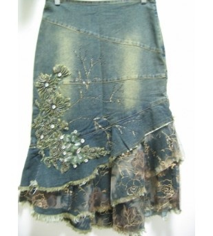#Lacy Jean Skirt