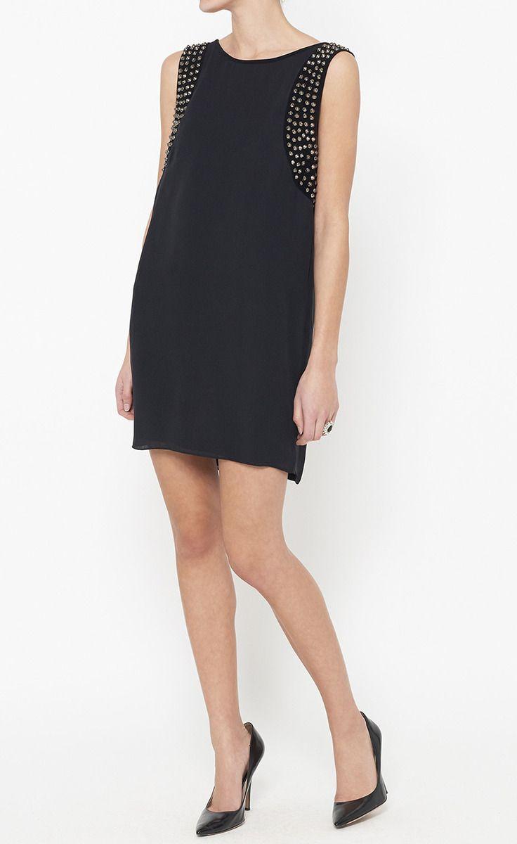 Black dress match with what colour - Haute Hippie Black And Silver Dress Vaunte