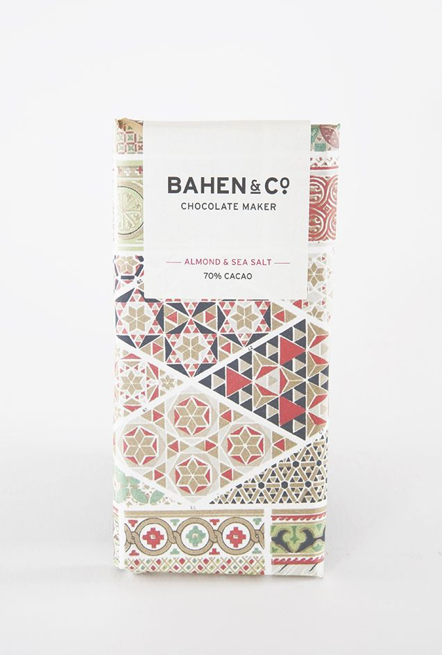 Paper box packaging. // bahen & co. | almond & sea salt chocolate | otis & otto