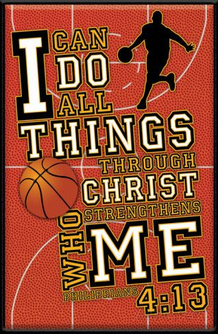 I Can Do All Things (Basketball) Plaque Wood Sign at AllPosters.com