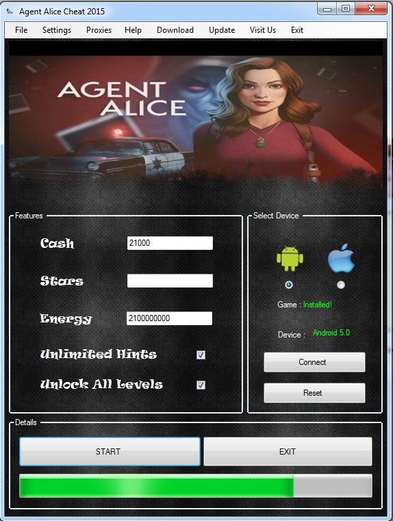 Agent Alice Hack Cheat Free Cash Apk Download For Android iOS Download http://www.developershack.com/agent-alice-hack-cheat-apk-download/