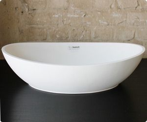 €240  Material:      Farbe:      Maße:  Rand:     Gewicht:    Hochwertiger Mineralguss (Solid Surface)    weiß matt  (Stil A)  weiß glänzend (Stil B)    617 x 340 x 160 mm  10 - 15 mm    8 kg