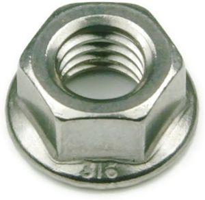 Flange Nuts Serrated 316 Stainless Steel