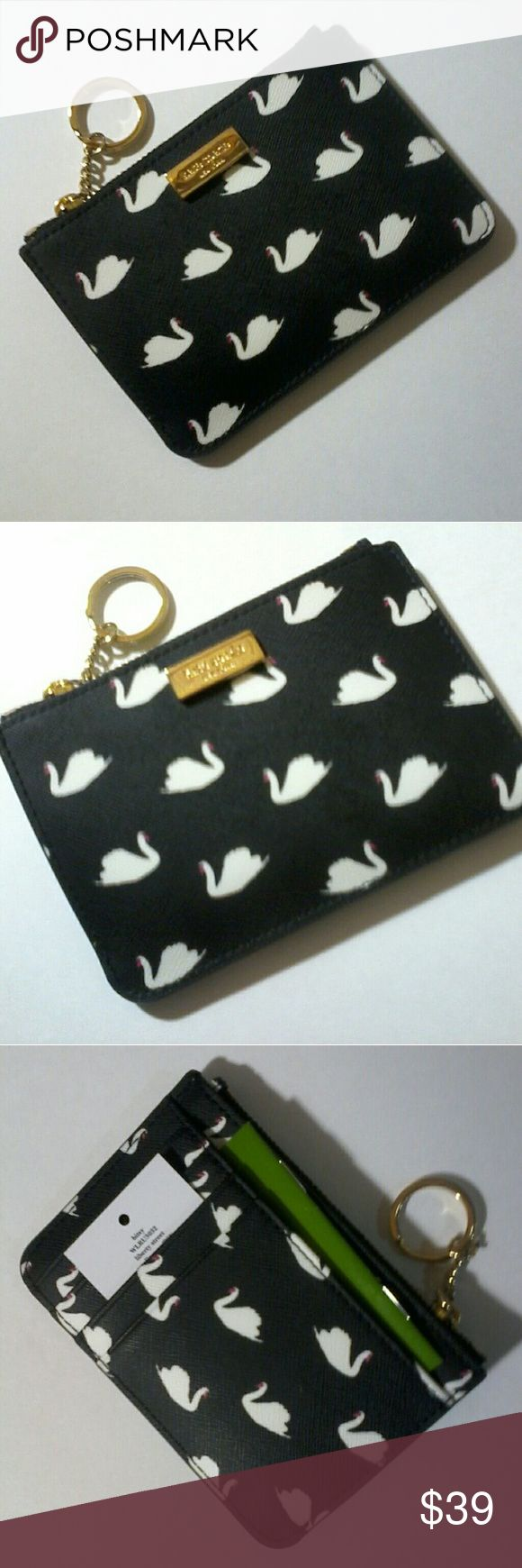 Kate spade bitsy swan coin purse keychain New kate spade Bags Wallets