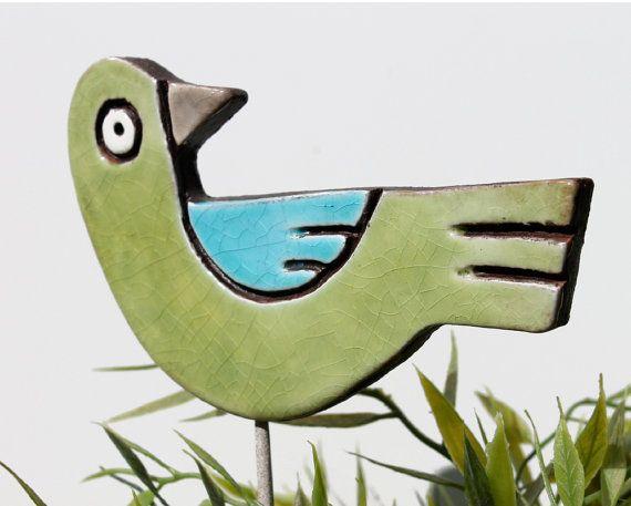 Vögel Gartenkunst Pflanze stakes Garten Markers Garten von GVEGA