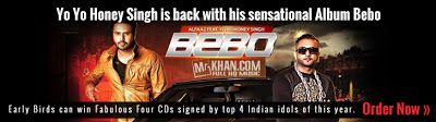 Infibeam has launched the pop singer Honey Singh's latest album Bebo. The early birds get a chance to win Fabulous 4 CDs that will be signed by the top 4 Indian Idols of 2012. Hurry before offer closes.