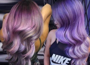 50 Lovely Purple & Lavender Hair Colors in Balayage and Ombre