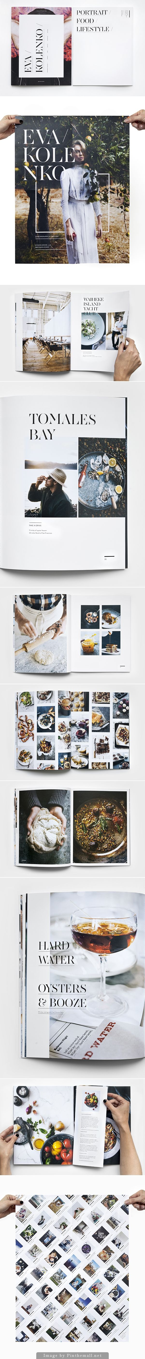 I love the page on the top right here. Would be cool to do as first page you see when you open the mag. Saying FOOD ENTERTAINING COMMUNITY