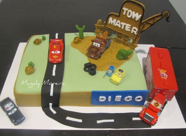 """""""Tow Mater"""" sign - and incorporate the Mac toy? J would LOVE!"""