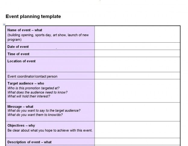 Image result for EVENT PLANNER TEMPLATE