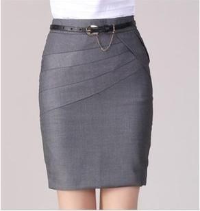 Women's Skirt- Office Formal Pencil Skirts, Casual Sexy Slim High Waist Knee Length