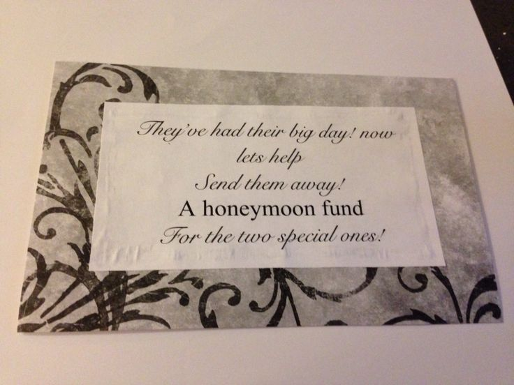 Wedding Gift Wording For Honeymoon: Wording For Honeymoon Fund Jar At Reception