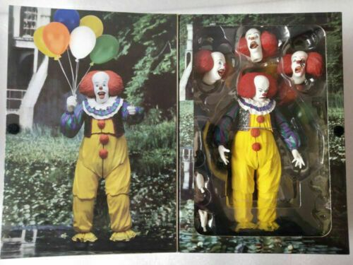 """1:12 NECA IT Pennywise Clown 1990 Ultimate 7/"""" Action Figure Movie Doll New"""
